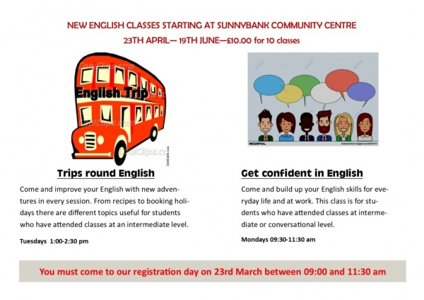 Classes for adults to learn English