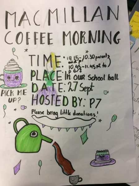 MacMillan Coffee Morning Friday 27th September