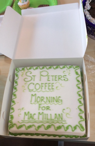 Thank you for supporting the MacMillan Coffee Morning on 27th September